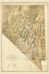 Nevada 1941 GLO - Old State Map Reprint