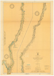 Champlain Canal 1920 New York Canals & Lakes Chart Reprint 181