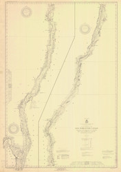 Champlain Canal 1926 New York Canals & Lakes Chart Reprint 181