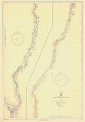 Champlain Canal 1936 New York Canals & Lakes Chart Reprint 181
