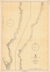 Champlain Canal 1943 New York Canals & Lakes Chart Reprint 181