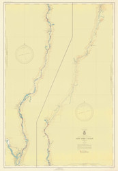 Champlain Canal 1946 New York Canals & Lakes Chart Reprint 181