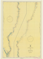 Champlain Canal 1947 New York Canals & Lakes Chart Reprint 181