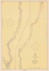 Champlain Canal 1952a New York Canals & Lakes Chart Reprint 181
