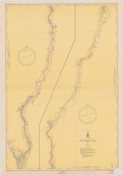 Champlain Canal 1952b New York Canals & Lakes Chart Reprint 181