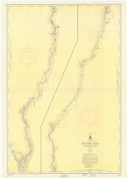 Champlain Canal 1956b New York Canals & Lakes Chart Reprint 181