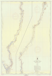 Champlain Canal 1959a New York Canals & Lakes Chart Reprint 181