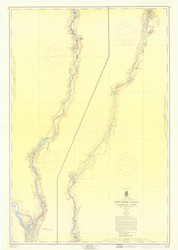 Champlain Canal 1959b New York Canals & Lakes Chart Reprint 181