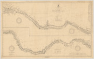Erie Canal 1919b New York Canals & Lakes Chart Reprint 183