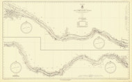Erie Canal 1933 New York Canals & Lakes Chart Reprint 183