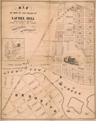 Laurel Hill 1856A - Old Map Reprint - New York Cities Other Brooklyn Small Area