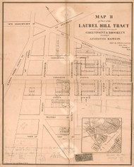 Laurel Hill 1856B - Old Map Reprint - New York Cities Other Brooklyn Small Area