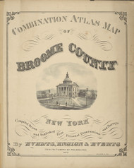 Title, New York 1876 - Old Town Map Reprint - Broome Co. Atlas 0