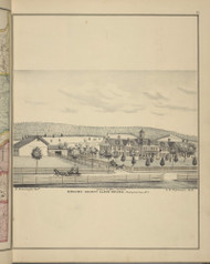 Broome County Alms House, New York 1876 - Old Town Map Reprint - Broome Co. Atlas 15