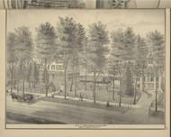 Residence of Mayor John Rankin, New York 1876 - Old Town Map Reprint - Broome Co. Atlas 27