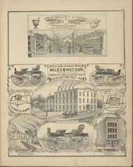 A.J. Inloes & Co's Drug Store and Excelsior Carriage Works, New York 1876 - Old Town Map Reprint - Broome Co. Atlas 45