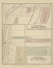 North Side Extension of Binghamton and East Side Extension of Binghamton, New York 1876 - Old Town Map Reprint - Broome Co. Atlas 48
