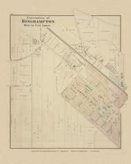 West Extnesion of Binghamton, New York 1876 - Old Town Map Reprint - Broome Co. Atlas 52