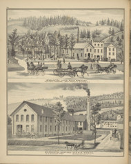 Binghamton Lager Beer Brewery & Binghamton Soap and Candle Works, New York 1876 - Old Town Map Reprint - Broome Co. Atlas 54
