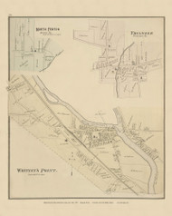 North Fenton, Triangle and Whitney's Point Villages, New York 1876 - Old Town Map Reprint - Broome Co. Atlas 58