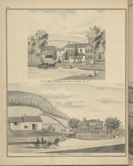Residences of Geo. E. Ross & A.F. Barnum, New York 1876 - Old Town Map Reprint - Broome Co. Atlas 84
