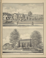 Residences of L.T. Safford & J.L. Rounds, New York 1876 - Old Town Map Reprint - Broome Co. Atlas 84