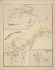 Villages of Upper Lisle, Chenango Forks, and Union Center, New York 1876 - Old Town Map Reprint - Broome Co. Atlas 87