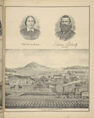 Residence of Edwin Roberts, New York 1876 - Old Town Map Reprint - Broome Co. Atlas 93