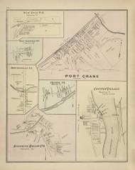 New Ohio, West Colesville, North Colesvillem Port Crane, Oquaga, Center Village, and Osborne Hollow Villages, New York 1876 - Old Town Map Reprint - Broome Co. Atlas 94