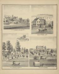 Residences of John F. McNamarra, Samuel Lum, Francis Robbins, and H.P. Alden, New York 1876 - Old Town Map Reprint - Broome Co. Atlas 95