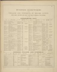 Business Directories - Binghamton, Windsor, New York 1876 - Old Town Map Reprint - Broome Co. Atlas 113