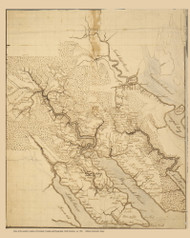 Part of Currituck, Camden & Pasquotank Counties 1780 - Old Map Reprint North Carolina Regional