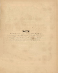 Note, Maryland 1866 Old Map Reprint 3