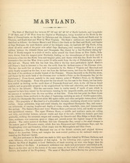 Maryland Text 1, Maryland 1866 Old Map Reprint 6