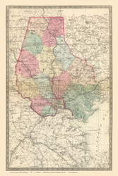Baltimore County, Maryland 1866 Old Map Reprint 18-19