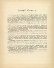 Carroll County Text, Maryland 1866 Old Map Reprint 26
