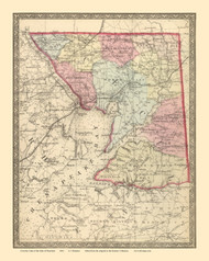 Cecil County, Maryland 1866 Old Map Reprint 27