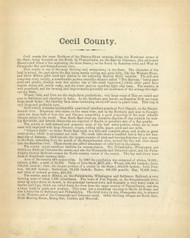 Cecil County Text, Maryland 1866 Old Map Reprint 28