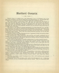 Harford County Text, Maryland 1866 Old Map Reprint 37