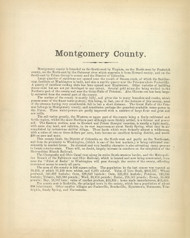 Montgomery County Text, Maryland 1866 Old Map Reprint 43