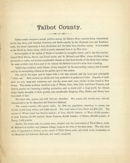 Talbot County Text, Maryland 1866 Old Map Reprint 55
