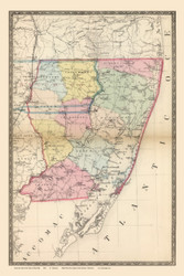 Worcester County, Maryland 1866 Old Map Reprint 59-60