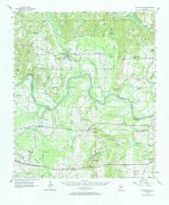 Autaugaville, Alabama 1957 (1968) USGS Old Topo Map Reprint 15x15 AL Quad 305479