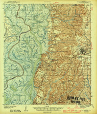 Bay Minette, Alabama 1943 (1943) USGS Old Topo Map Reprint 15x15 AL Quad 305486
