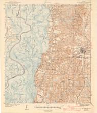 Bay Minette, Alabama 1943 (1943) USGS Old Topo Map Reprint 15x15 AL Quad 464311