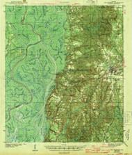 Bay Minette, Alabama 1943 (1943) USGS Old Topo Map Reprint 15x15 AL Quad 305487