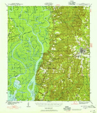 Bay Minette, Alabama 1941 (1955) USGS Old Topo Map Reprint 15x15 AL Quad 305484