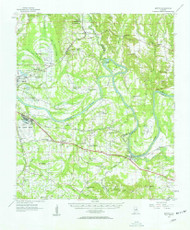 Benton, Alabama 1957 (1958) USGS Old Topo Map Reprint 15x15 AL Quad 305488