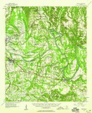 Benton, Alabama 1957 (1958) USGS Old Topo Map Reprint 15x15 AL Quad 305489