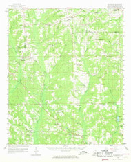 Billingsley, Alabama 1959 (1968) USGS Old Topo Map Reprint 15x15 AL Quad 305498